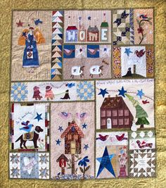 Los secretos de Amine Primitive Quilts, Appliqué Quilts, Sampler Quilts, Colchas Country, Scrap Quilt Patterns, Iglesias, Banners, Applique, Patches