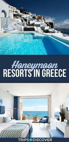 11 Best Honeymoon Resorts in Greece Honeymoon - Honeymoon destinations - Honeymoon ideas - Honeymoon Best Honeymoon Resorts, Greece Honeymoon, Honeymoon Places, Romantic Honeymoon, Honeymoon Destinations, Dream Vacations, Romantic Travel, Beach Resorts, Honeymoon Pictures