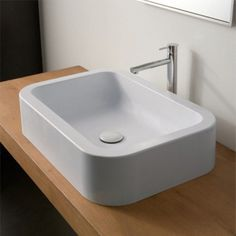 Scarabeo by Nameeks Next60 ART 8307 Next Vessel Sink - White - SCARABEO 8307-NO HOLE