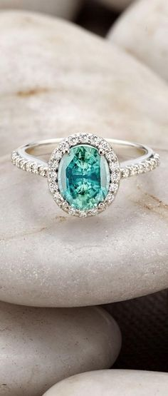 Engagement Rings & Wedding Rings : White Gold Sapphire Fancy Halo Diamond Ring with Side Stones Halo Diamond, Diamond Rings, Sapphire Rings, Ruby Rings, Blue Sapphire, Emerald Rings, Emerald Cut, Blue Diamonds, Solitaire Rings