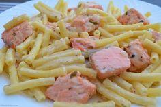 Lachs Macceroni - My Blog Pasta Salad, Spaghetti, Ethnic Recipes, Blog, Eating Well, Macaroni, Salmon, Food Food, Simple