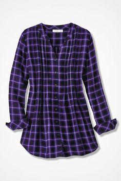 Purple Plaid Tunic, Dark Purple Multi