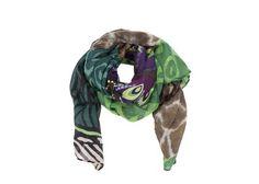 Barevný šátek se vzory Desigual Twill Supersonic