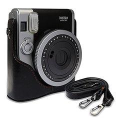 Vintage PU Leather Protective Bag Case for Fuji Fujifilm Instax Mini 90 NEO…