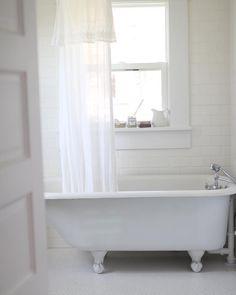 Good morning. ☀️ I can't wait to do a proper bathroom reveal on the blog, after we get a few more little details hemmed up!