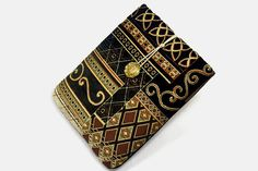 Tablet Case, iPad Mini Cover, Royal, Kindle Fire 7 Sleeve, 7 inch Tablet Cover, Sleeve, Cozy, Handmade, FOAM Padding, Holiday Gift, Black