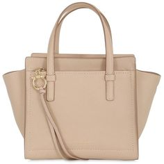 Salvatore Ferragamo Women Small Amy Grained Leather Tote Bag ($1,095) ❤ liked on Polyvore featuring bags, handbags, tote bags, purses, nude, zip tote, beige tote bag, beige tote, handbag purse and zip top tote