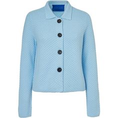 Winser London Textured Cardigan (2.255 RUB) ❤ liked on Polyvore featuring tops, cardigans, chambray blue, short-sleeve cardigan, long sleeve tops, layering long sleeve tops, textured cardigan and long sleeve cardigan