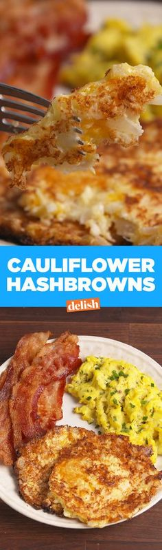 Hash Browns Cauliflower Hash Browns are the low-carb breakfast side that will save your diet. Get recipe from .Cauliflower Hash Browns are the low-carb breakfast side that will save your diet. Get recipe from . Breakfast Low Carb, Breakfast And Brunch, Best Breakfast, Breakfast Ideas, Breakfast Casserole, Brunch Ideas, Avacado Breakfast, Atkins Breakfast, Low Carb Pancakes