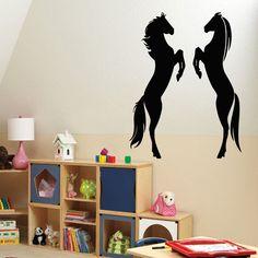 Wall Decals Vinyl Decal Sticker Wall Murals Art Decor Wild Animals Horses Kj2 #STICKALZ #MuralArtDecals