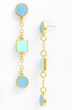 Tory Burch 'Clemens' Linear Earrings available at #Nordstrom