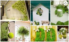 Green wedding theme #greenwedding  #weddingideas #weddingthemes. For saving time and money of modern and full-time working brides and grrom, KISS Wedding Event has created 22 wedding concepts for wedding decoration, using popular color palettes in 2014 such as pastel pink, hot pink, red and white, white and silver, sequin golden, etc and special storylines such as highschool love, autumn love, love bus journey. http://kisswe.com/weddingconceptoftheyear2014/