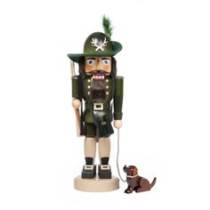 The Forester, dressed in the official green forester uniform, ready to scout the woods with his trusty dog.