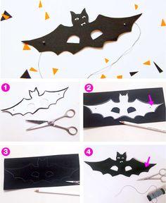 Halloweenkostüm Fledermaus für die Halloween-Party: mit unserem DIY für Umhang und Free Printable der Fledermaus Maske zum kostenlosen download - einfach ausdrucken auf FAMILICIOUS.de