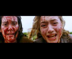 Kate Winslet and Melanie Lynskey as murderous lesbian teenagers in Heavenly Creatures