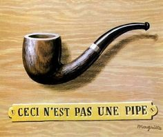 The treachery of images (This is not a pipe) by @artistmagritte #surrealism
