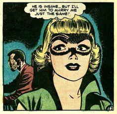 A young Ivana Trump ponders . Vintage Comic Books, Vintage Comics, Comic Books Art, Comic Art, Romance Comics, Comic Book Panels, Romance And Love, True Romance, Classic Comics