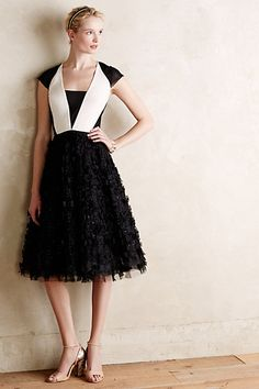 Textured Tuxedo Dress - anthropologie.com