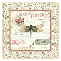 Rose Garden VI Premium Giclee Print by Lisa Audit at AllPosters.com