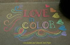 Side Walk, Chalk Ideas, Sidewalk Chalk Art, Vsco, Diy Ideas, Inspirational Quotes, Projects, Color, Life Coach Quotes