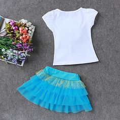 LZH Children Clothes 2017 Summer Kids Girls Clothes Set Flower T-Shirt+Skirt Outfit Girl Sport Suit Children Girls Clothing - Kid Shop Global - Kids & Baby Shop Online - baby & kids clothing, toys for baby & kid Kids Outfits Girls, Kids Girls, Baby Kids, Girl Outfits, Summer Kids, 2017 Summer, Skirts For Kids, Baby Shop Online, Gypsy Dresses