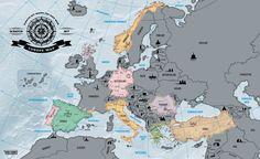 Europa Rubbelkarte Scratch off Map