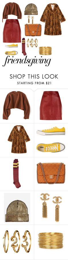 """""""Manhattan and Comfy- Let's Eat!"""" by diana-crawford ❤ liked on Polyvore featuring Uniqlo, Sandro, Gucci, Converse, Marni, Chanel and Topshop"""