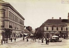 a Ráday (Soroksári) utca a Kálvin tér felől nézve. A felvétel 1895 körül készült. A kép forrását kérjük így adja meg: Fortepan / Budapest Főváros Levéltára. Levéltári jelzet: HU.BFL.XV.19.d.1.07.064