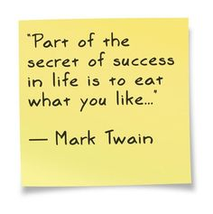 Part of the secret of success in life is to eat what you like - Mark Twain Cooking For Two, Fun Cooking, Cooking Videos, Cooking Tips, Cooking Recipes, Keto Recipes, Healthy Recipes, Easy Strawberry Rhubarb Pie, Me Quotes