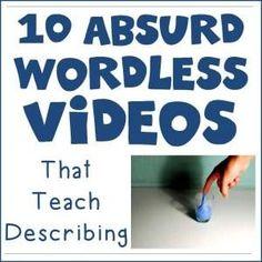 10 Absurd Wordless Videos that Teach Describing - Speech is Beautiful