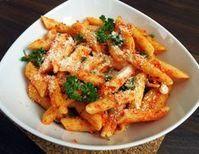 Těstoviny s pestem z pečených paprik (výherní recept č.1) Thai Red Curry, Pesto, Carrots, Chicken, Vegetables, Ethnic Recipes, Fit, Red Peppers, Shape