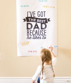 So in love with this free Father's Day free printable poster. What a nice thing for him to wake up to.