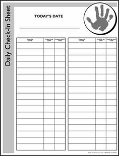 ChildrenS Church Sign In Sheet Template  Google Search