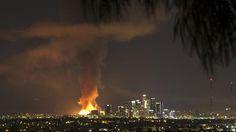 Fire in downtown Los Angeles 12/8/14 Nancy Yuille / Associated Press