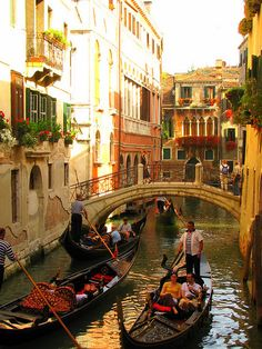 Venice, Italy - because who doesn't want to take a ride in a gondola?