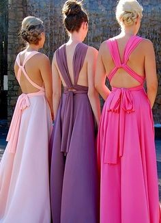 Goddess wrap dress - can be worn a number of ways. Cute for bridesmaids for summer wedding.