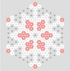 projects with snowflake beads   Pastel Hama Bead Snowflake Patterns   BeadMerrily Hama Bead Designs