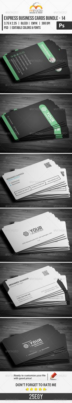 Express business cards bundle 12 creative 12 and business cards colourmoves