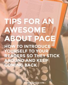Tips for an Awesome About Page An awesome about page is crucial if you want to connect with your readers. Here are some tips to make your about page stand out. Creative Business, Business Tips, Business Website, Content Marketing, Internet Marketing, About Me Page, Product Page, Thing 1, Blog Design