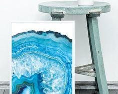 Geode Art Print, Printable, Agate Print, Gift For Her, Geode Art Print, Gold Foil, Nursery Decor, Watercolor