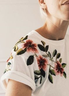 Embroidered Tee by Tessa Perlow on Etsy