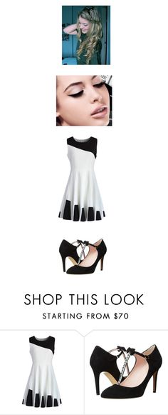 """Meeting GoGo"" by maryvarleyrox ❤ liked on Polyvore featuring Chicwish, Kate Spade and Maybelline"