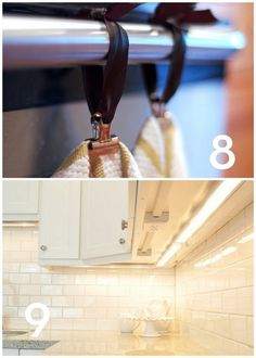Keep the backsplash uninterrupted by installing outlets under the cupboards. From Sally Jensen Interiors.