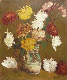 Crizanteme-de-Stefan-Luchian Painters, Vase, Vases, Jars