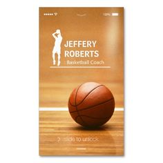 Creative Basketball Coach Basketball Trainer Business Card. This is a fully customizable business card and available on several paper types for your needs. You can upload your own image or use the image as is. Just click this template to get started!