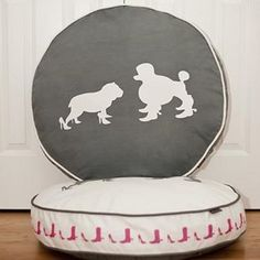 Round Heels and Boots Pet Bed-shoe loving pets make this an adorable choice for your pampered pooch from @frontgate