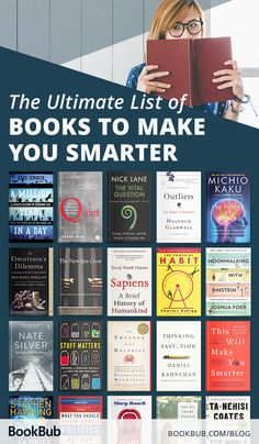This is the ultimate list of books that will make you smarter! These thought-provoking books from authors such as Malcolm Gladwell will impart lasting knowledge. Books Everyone Should Read, Best Books To Read, Good Books, My Books, Best Non Fiction Books, Books To Read In Your 20s, Teen Books, Book Suggestions, Book Recommendations