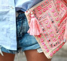 Clutches are the easiest style of handbag.