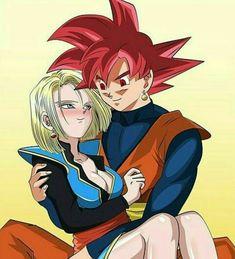 Goku y la Androide 18