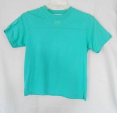 Lindsey Blake Petites Top Sm Green Poly Blend Short Sl. Clip Sides Emblem Front #LindseyBlakePetites #KnitTop #Career